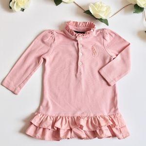 Ralph Lauren   Ruffled Long Sleeve Polo Dress 12M